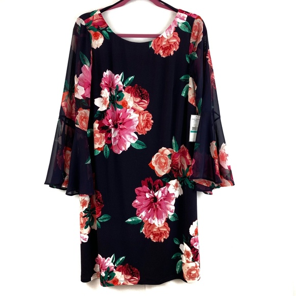 Jessica Howard Dresses & Skirts - NWT Jessica Howard Navy Floral Sheath Dress 16
